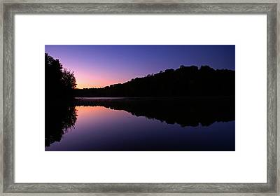 First Light On Shanty Hollow Framed Print by Keith Bridgman