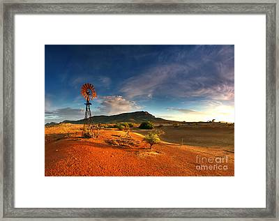 First Light On Wilpena Pound Framed Print