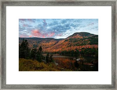 Beaver Pond Sunrise-kinsman Notch New Hampshire Framed Print by Thomas Schoeller