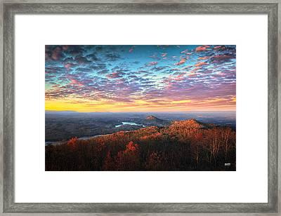 First Light Over The Ocoee River Framed Print