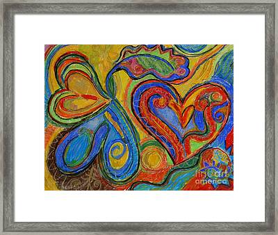First Love Framed Print by Kelly Athena