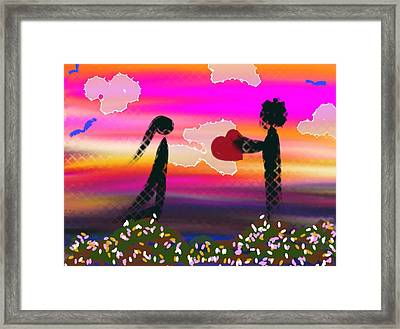 First Love Framed Print by Lady Ex