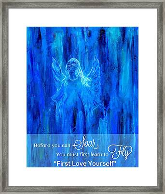 First Love Yourself Framed Print by The Art With A Heart By Charlotte Phillips