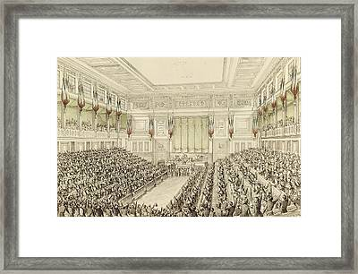 First Meeting Of The National Assembly, 4th May 1848  Framed Print by Michel C Fichot