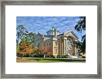 First Methodist Church Framed Print by Kathy Baccari