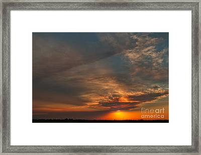 Framed Print featuring the photograph First Montana Sunset by Charles Kozierok