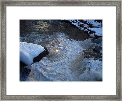 First Morning Light Dances On The Churn Of The Kaaterskill Framed Print by Zackary Jones