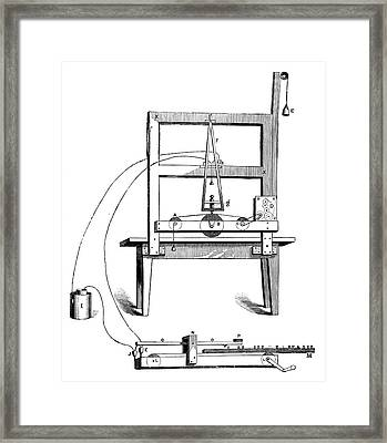 First Morse Telegraph Framed Print by Science Photo Library