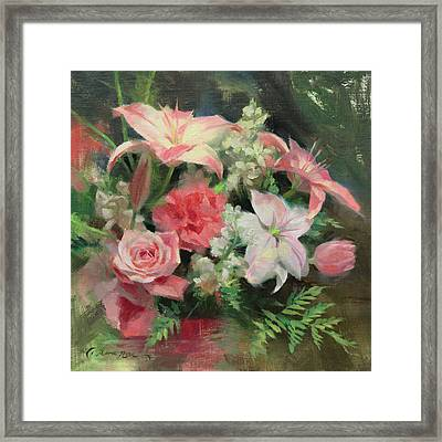 First Mother's Day Framed Print by Anna Rose Bain
