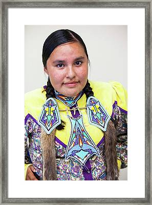 First Nation Protest Against Tar Sands Framed Print