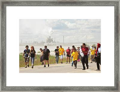 First Nation Protest The Tar Sands Framed Print by Ashley Cooper