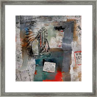 First Nations 12 Framed Print