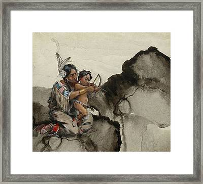 First Nations 38 Framed Print by Corporate Art Task Force