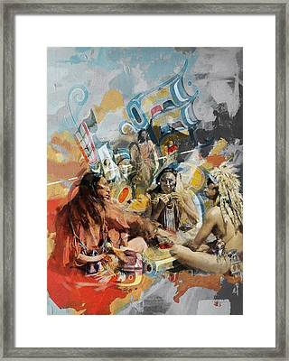 First Nations 42 Framed Print by Corporate Art Task Force