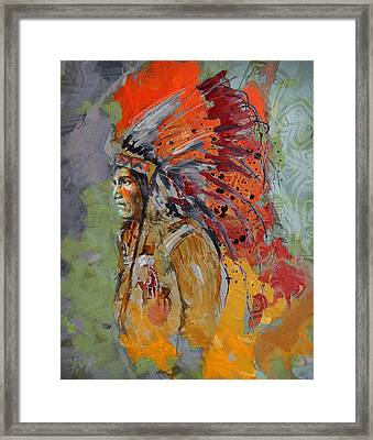 First Nations 9 B Framed Print by Corporate Art Task Force