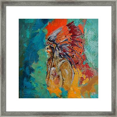 First Nations 9 Framed Print by Corporate Art Task Force