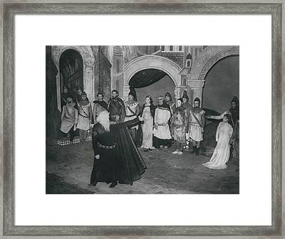 """First Night Of """"king Lear"""" Framed Print by Retro Images Archive"""