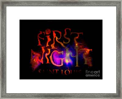 First Night Sign 2 Framed Print