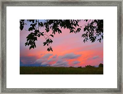 Framed Print featuring the photograph First October Sunset by Kathryn Meyer