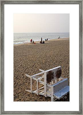 First On The Beach At Bethany Beach In Delaware Framed Print