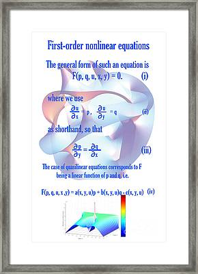 First Order Non-linear Equations Framed Print