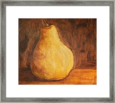 First Pear Framed Print by Jodi Monahan