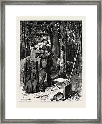 First Person Singular Framed Print by Reinhart, Charles Stanley (1844-1896), American