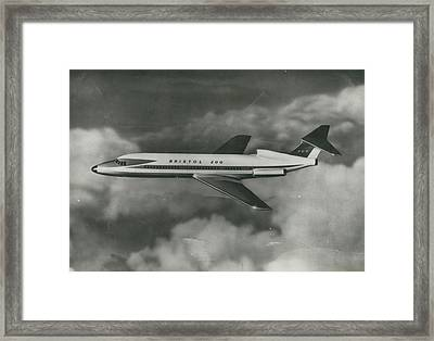 First Photo Of Bristol 200 Proposed, To Bea By Framed Print by Retro Images Archive