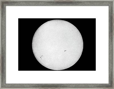 First Photograph Of The Sun Framed Print by Royal Astronomical Society