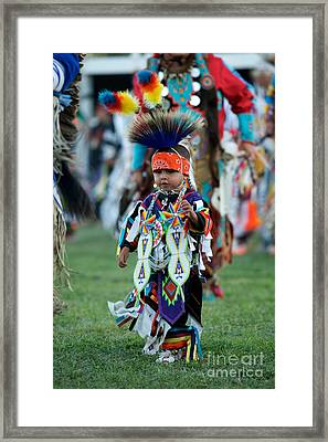 First Powwow Framed Print