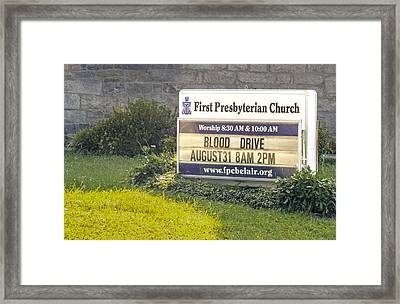 First Presbyterian Church Framed Print
