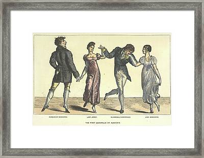 First Quadrille At Almanack's Framed Print by British Library