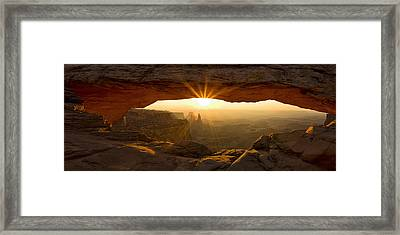 First Rays At Mesa Arch Framed Print by Andrew Soundarajan