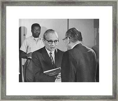 First Recorded Peace Treaty Framed Print by Underwood Archives