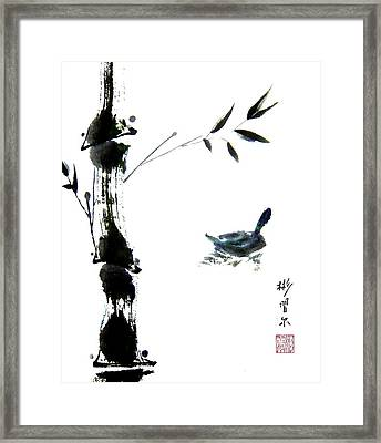Framed Print featuring the painting First Reflection by Bill Searle