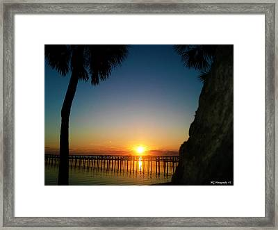 Framed Print featuring the photograph First Rise by Marty Gayler