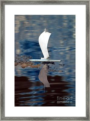 Framed Print featuring the photograph First Sail by Rebecca Parker