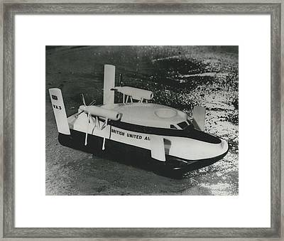 First Scheduled Hovercraft Service Planned For July Framed Print by Retro Images Archive