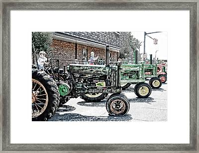 First Second Whos In Third Framed Print by Lesa Fine