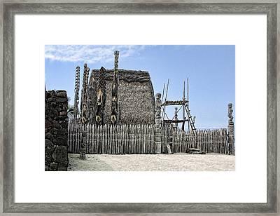 First Settlement On Kona Island Framed Print by Linda Phelps