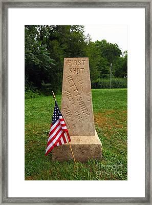 First Shot Monument Gettysburg Framed Print