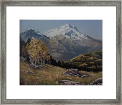 First Signs Of Fall Framed Print by Mar Evers