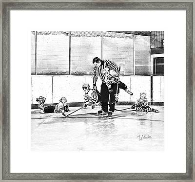 First Skate  Framed Print