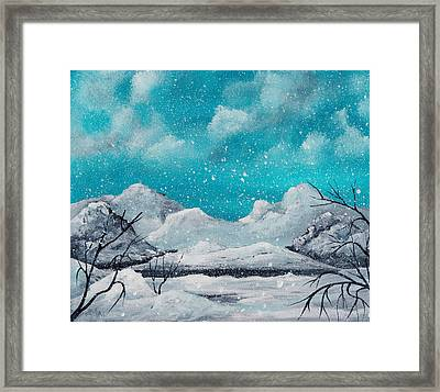 First Snow Framed Print by Anastasiya Malakhova