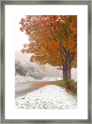 First Snow Framed Print by Butch Lombardi
