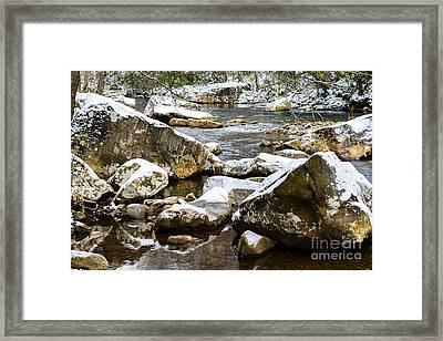 First Snow Cranberry River Framed Print by Thomas R Fletcher