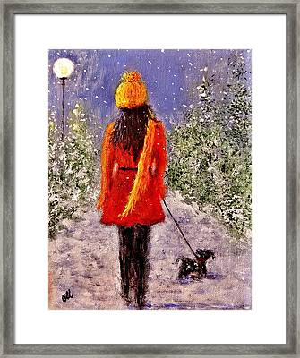 First Snow.. Framed Print