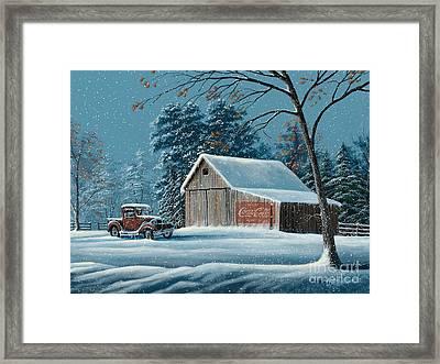 First Snow Framed Print by Gary Adams