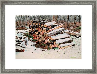 First Snow Framed Print by Hal Weyant