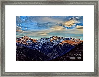 First Snow In The Mountains Framed Print